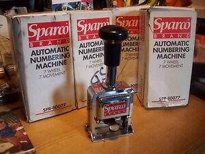 sparco automatic numbering machine