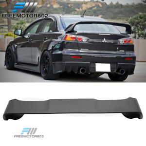 Fit 2008 2015 Mitsubishi Lancer Evo 10 Abs Matte Black Rear Trunk Spoiler Wing