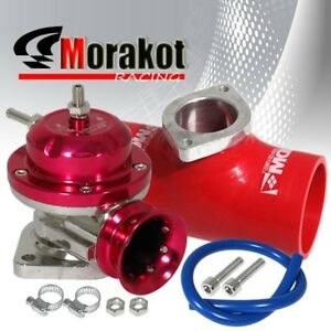 Custom Engine Type Rs Bov Blow Off Valve 2 5 Inch Flange Coupler Adapter Red
