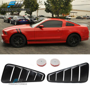 Fit 10 14 Ford Mustang 2dr 5 Vent Side Window Louver Covers Mach Style