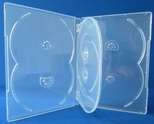 50 Pcs Premium Clear Multi Hold 6 Discs Dvd Cd Cases Standard 14mm 6c