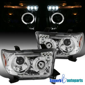 For 2007 2013 Toyota Tundra Sequoia Led Halo Projector Headlights