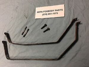 1987 1993 Ford Mustang Fuel Gas Tank Straps Mount Brackets Hardware Oem