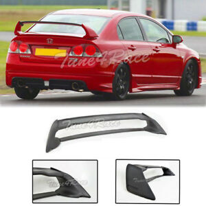 For 06 11 Honda Civic Sedan Fd2 Fa2 Mugen Rr Rear Trunk Wing Spoiler Abs Plastic