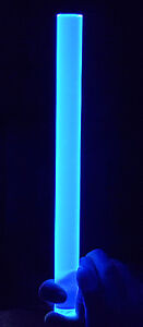 Clear Blue Fluorescent Acrylic Plexiglass Lucite Rod 1 Diameter 12 Inch Long