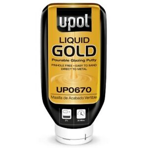 Upol Up0670 Liquid Gold Pourable Glazing Putty 615ml Bottle