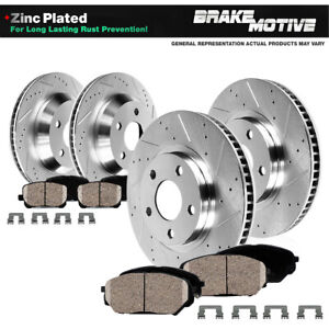 Front Rear Drilled Slotted Brake Rotors And Ceramic Pads 1988 1995 Corvette C4