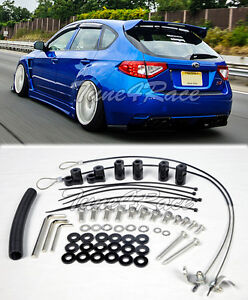 For 08 14 Subaru Impreza Sti 11 14 Wrx Riser Kit Hatch 3dr Rear Spoiler Lip Wing