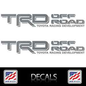 2 Trd Off Road Decals Stickers Matte Silver Vinyl Toyota Tacoma Tundra 4runner