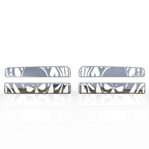 Grille Insert Guard Skull Flame Polished Stainless Fits 94 01 Dodge Ram 1500