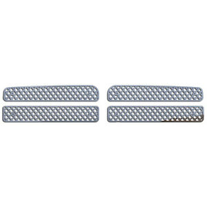 Grille Insert Guard Mesh Punch Polished Stainless Fits 94 01 Dodge Ram 1500
