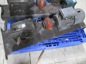 Nord Motor Gear Sk90l 4 Bre20 Hl Fr 12063w 2hp 15 57 Ratio Used