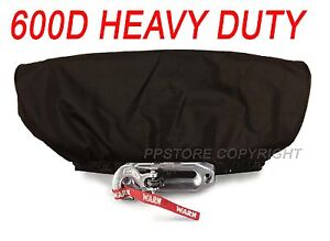 Waterproof Soft Winch Cover Fits 12000 Lb Wireless Winch Other Winches Blk