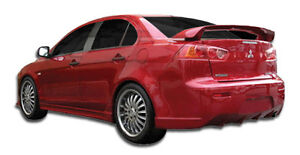 08 15 Mitsubishi Lancer Duraflex C 1 Rear Bumper 1pc Body Kit 106419