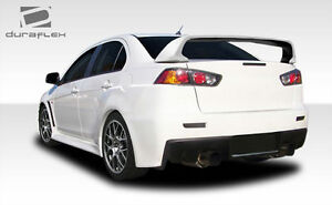 08 15 Mitsubishi Lancer Duraflex Evo X Look Rear Bumper 1pc Body Kit 106955