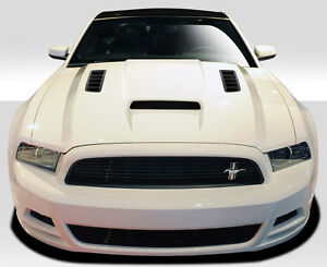 13 14 Ford Mustang 10 14 Mustang Gt500 Duraflex Cv x Hood 1pc Body Kit 109258
