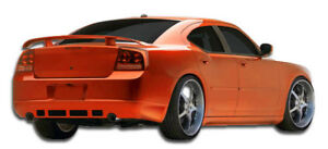 06 10 Dodge Charger Duraflex Vip Rear Lip 1pc Body Kit Base Model 103330