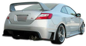 06 11 Honda Civic 2dr Duraflex Gt500 Wide Body Rear Bumper 1pc Body Kit 105247