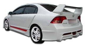 06 11 Honda Civic 4dr Duraflex R Spec Rear Bumper 1pc Body Kit 104429