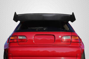 92 95 Honda Civic Hb Carbon Fiber Rbs Wing Spoiler 3 Pc 115445