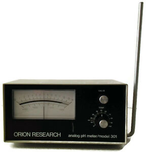 Orion Research Analog Ph Meter model 301 104 254 Vac 50 60 Cps 2 5 Watts Max