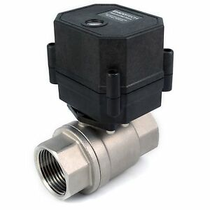 1 Motorized Ball Valve Stainless Epdm 110 115 120 220 240 Vac N c 2 wire