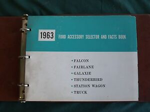 Near Nos 1963 Ford Accessory Selector And Facts Book Falcon Galaxie T bird