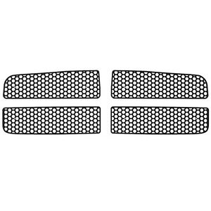 Grille Insert Guard Circle Punch Black Fits 02 05 Dodge Ram 1500 Bs