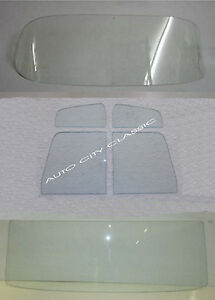1956 Ford Pickup F100 Windshield Vent Door Rear Back Glass Set Clear