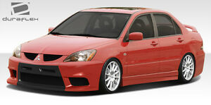 04 07 Mitsubishi Lancer Duraflex Evo X Look Body Kit 4pc 108207