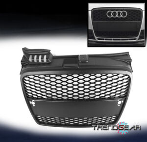 2005 2008 Audi A4 B7 Matte Black Honeycomb Front Mesh Upper Grille Grill Insert