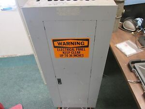 Ge Main Circuit Breaker Panel Aqf1422abx 225a Max 120 240v 1ph 3w 200a Main Used