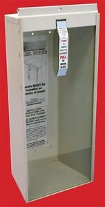 lot Of 2 New Fire Extinguisher Cabinet Metal W glass Break Rite Bar