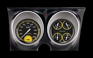Classic Instruments 1967 1968 Camaro Gauge Dash Cluster Autocross Yellow Series
