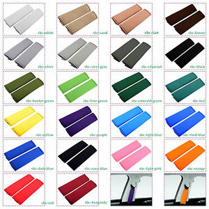 Cc Cotton Seat Belt Covers Choose From 22 Colors Set Of Two