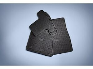 2015 2018 Mustang Oem Genuine Ford Parts Black Rubber Floor Mat Set 4 pc