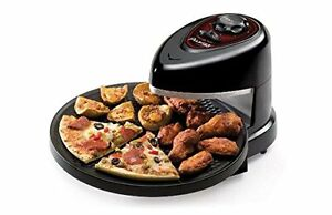 Presto Counter Top Rotating Pizza Maker Oven Non Stick Timer Frozen Fresh Bake