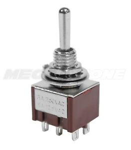 New Dpdt Mini Toggle Switch On on on Solder Lug Premium Quality Usa Seller
