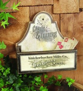 Primitive Vintage Type Large Wood Letter Box Mail Anitque Type Advertising