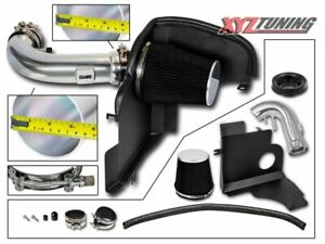 3 5 Black Heat Shield Cold Air Intake Kit Filter For 11 14 Mustang Gt 5 0l V8