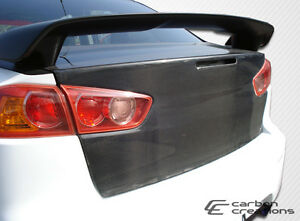 08 15 Mitsubishi Lancer lancer Evolution 10 Carbon Fiber Oe Trunk 103878