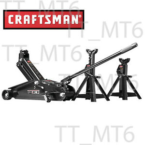 New Craftsman 2 1 4 Ton Hydraulic Floor Jack Set W 2 Jack Stands Auto Car Tool