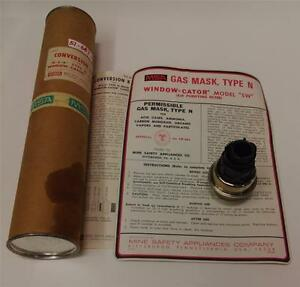 Msa Window cator Model Sw Air Purifying Filter Gas Mask Type N New pzb