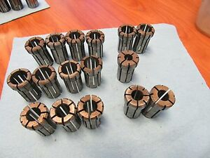 16 Pcs Da 180 Variety Collet Set 15 32 17 32 13 32 23 32 21 32 19 32 Da180