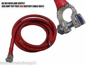 Battery Relocation Kit 1 Awg Hd Welding Cable Top Post Lug 16 Ft Red Only