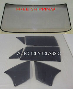 1966 1967 Chevelle Convertible Glass Windshield Vents Doors Quarters Grey