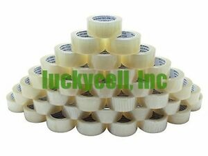 36 Rolls 2 x110 Yards 330 Ft box Carton Sealing Packing Shipping Clear Tape