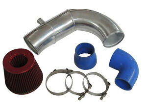 4 Supercharger Intake Pipe Filter For 87 93 5 0 Ford Mustang Vortech V3 Sc blue