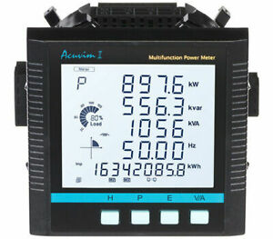 Accuenergy Acuvim Ii d 5a p1 Lcd Power Meter 10 415vac 50 60hz 100 300vdc