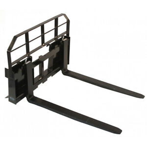 60 Skid Steer Hd Pallet Fork Attachment 5500 Lb Capacity Quick Tach Tractor